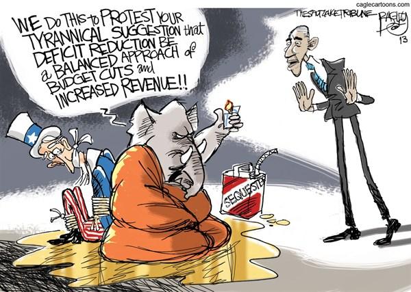 Comic strip on financial crisis