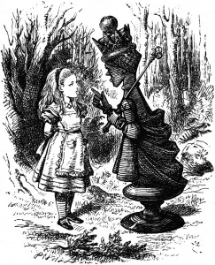 Sir-John-Tenniels-drawing-of-Alice-Meeting-the-Red-Queen-243x300