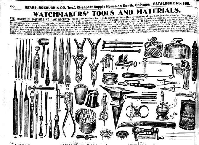 Watchmaker Tools Catalog Sear Catalog Watchmaker Tools