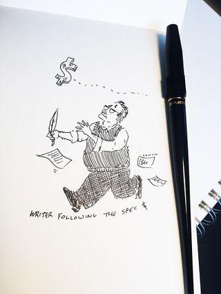 Writer chasing money