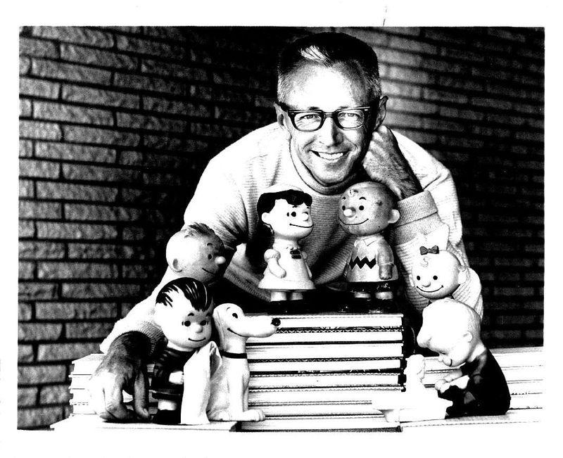 Cartoonist charles schulz 1966