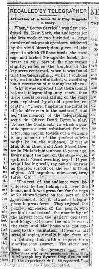 Telegraph play